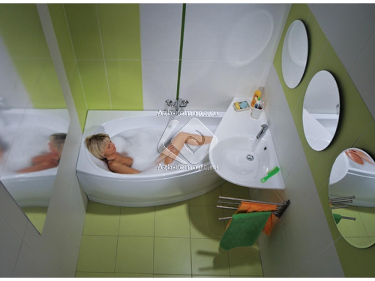 Как маленькую ванну сделать красивой